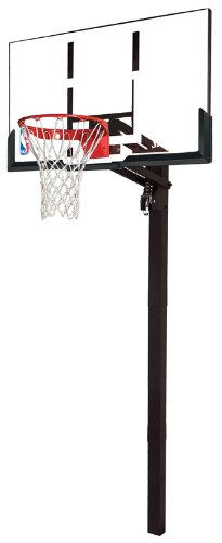 Attractive Spalding 54 Inch In Ground Basketball System With Acrylic Backboard