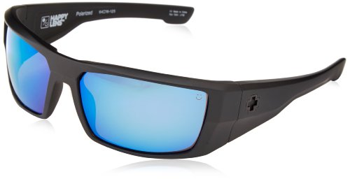 Spy Optic Dirk Polarized Wrap Sunglasses, Black, 64 - Sunglasses Fishing Spy