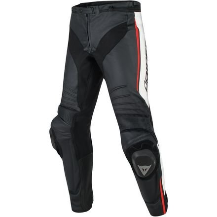 Dainese Misano Perforated Leather Pants (50) (BLACK/WHITE/FLUORESCENT RED)