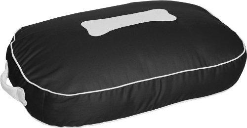 Kakadu Pet Urban Small Dog Bed Pillow, Midnight and Vanilla, Black/White, My Pet Supplies