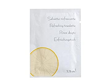 Bunzl Toallitas Refrescantes con Perfume Al Limón - 100 unidades: Amazon.es: Salud y cuidado personal