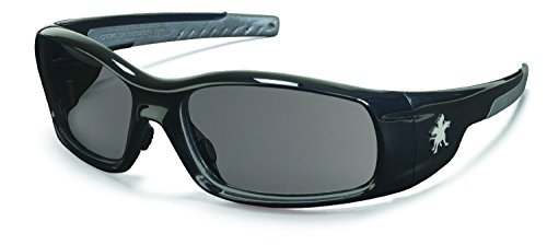 Gray Polished Frame - Crews SR112 Swagger Safety Glasses Polished Black Frame w/ Gray Lens (12 Pair)
