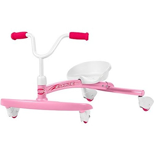 Foot-to-Floor Pink Ziggle Solid Steel Frame Ride-On by Ziggle