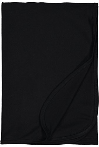 Rabbit Skins Infant 100% Cotton Premium Jersey Blanket (Black, One Size Fits All)