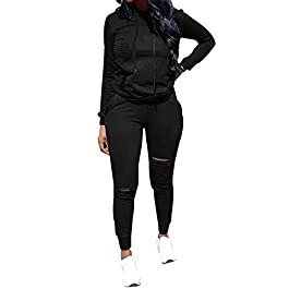 Chic to Max Women's 2 PCS Plus Size Tracksuit Sets Outfits Hoodie Sweatshirt and Jogging Pants Sweatsuits
