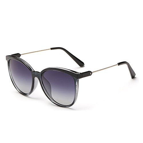 Round Resin Frame Mirrored Lenses Retro Sunglasses for Women and Men - Sunglasses Kourtney