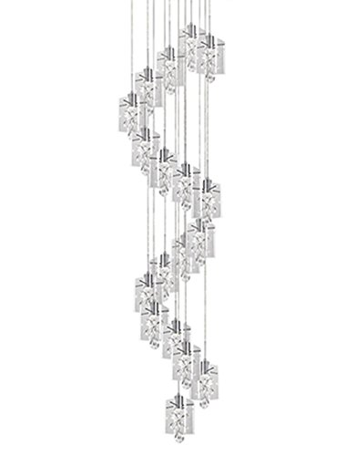 Flora 1 Light Pendant - Radionic Hi Tech Jessa 1 Light Chrome Pendant, 23.625
