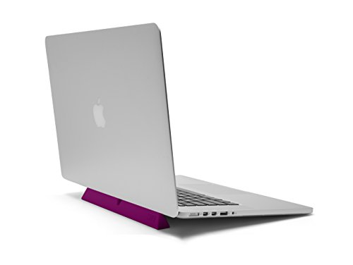 designed by many, CURB Universal & Portable Ergonomic Laptop Stand, Lightweight Dual Viewing Position, Pink by designed by many (Image #1)'