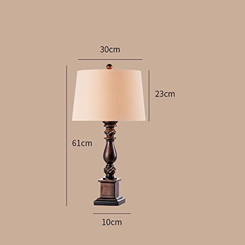 Land Retro Nachttisch Kreative Wohnzimmer Schlafzimmer Romantische Tischlampe (Dimmschalter)