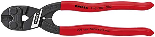 Lever Cutter Bolt Mini Action (Knipex 7101200 8-Inch Lever Action Mini-Bolt Cutter (Renewed))