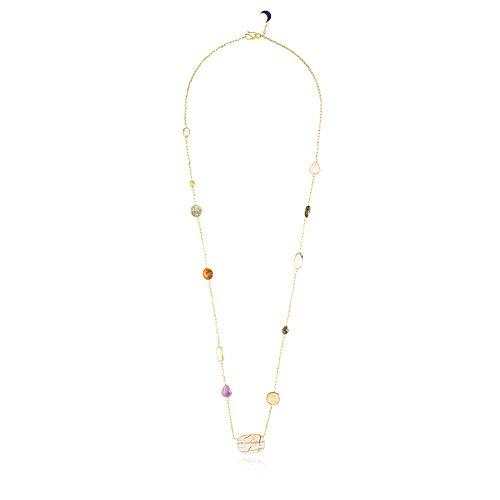 Pippa Small Collier Plaqué Or Ovale Grenat Multicolore Femme 100cm