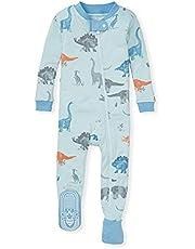 Burt's Bees Baby Baby Boys' Sleeper Pajamas, Zip-Front Non-Slip Footie Pjs, Organic Cotton