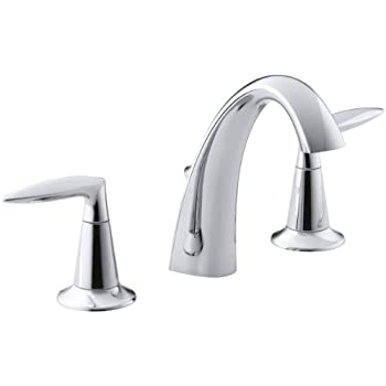 KOHLER K-45100-4-CP Alteo Centerset Lavatory Faucet, Polished Chrome ...