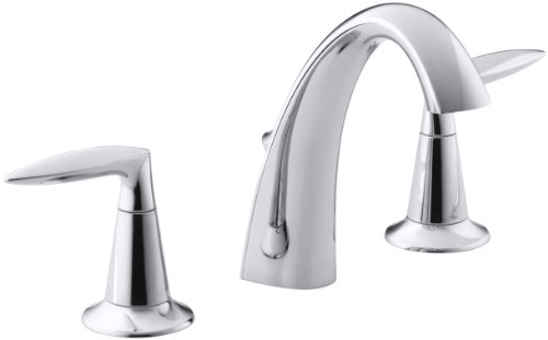 Kohler Elmbrook 8 In Widespread 2 Handle Bathroom Faucet: KOHLER Alteo K-45102-4-CP 2-Handle Widespread Bathroom