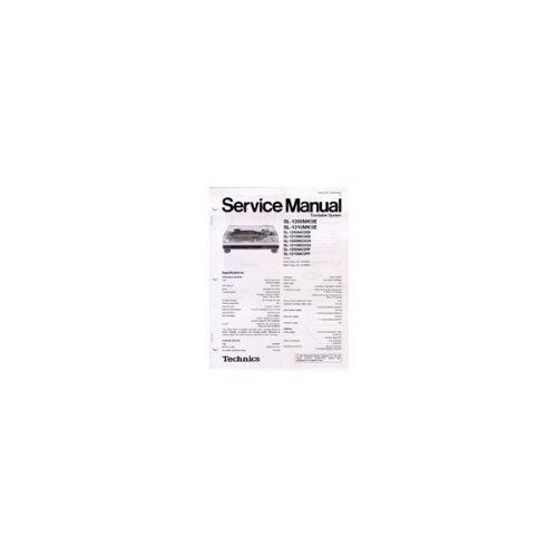 Technics Service Manual For SL1200/1210MK5