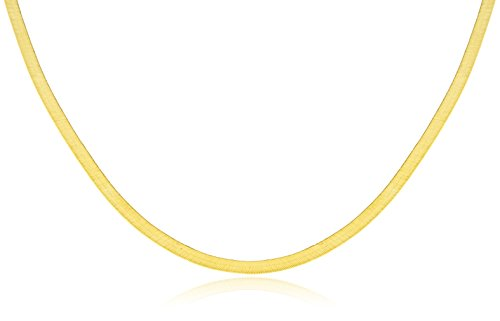 - JOTW 10k Yellow Gold 3mm Herringbone Chain Necklace - Available in 16