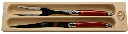 Jean Dubost Laguiole Carving Set with Red handles by Jean Dubost Laguiole (Image #1)
