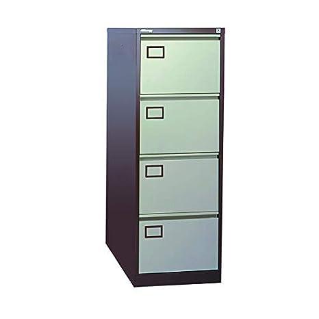 Jemini 4 cajón archivador kf03002, Metal, café Crema, 62,2 x ...
