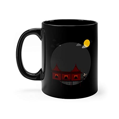 Thai Traditional Style Halloween With Ancient Ghost Horror Nights Funny Cute Mug Ceramic 11 Oz -