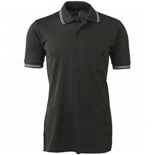 CHAMPRO Umpire Polo Shirt; Adult Black, X-Large ()