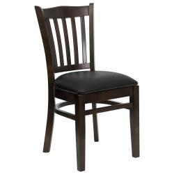 Flash Furniture Hercules Heavy Duty Restaurant Chair w Vertical Back - Set of 2