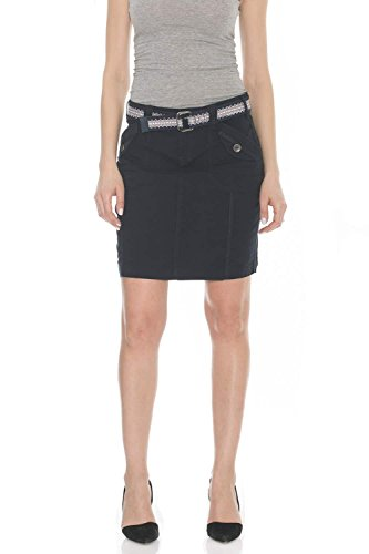 Suko Jeans Poplin Cargo Skirt for Women 57050 Navy ()