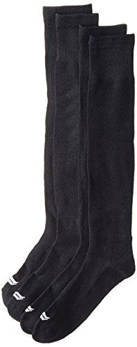 Sof Sole RBI Baseball Team Athletic Performance Socks, Black, Mens Large 10-12.5, 2-Pack