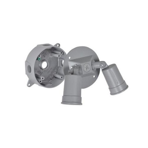 Master Electrician LCR23N Round Double Floodlight Holder Kit Contains Round Box Cover and Accessories by Master Electrician