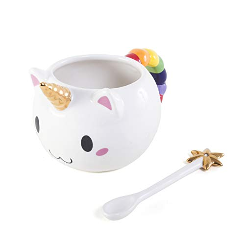 Tea Wand - OddNot Kawaii Caticorn Mug - Handmade 16oz Ceramic Unicorn Mug and Star Wand Spoon Gift Set