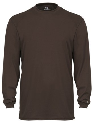 - Badger Sport B-Core Long Sleeve T-Shirt 4104 Brown XXX-Large