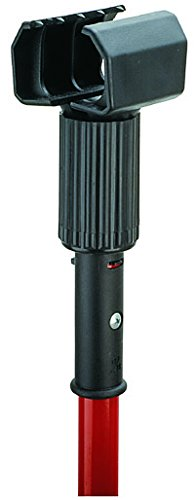 Libman Commercial 983 Resin Jaw Mop Handle, 63'' Length, 3'' Width, Red/Black (Pack of 6) by Libman Commercial