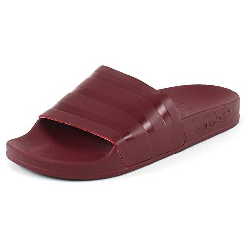 Collegiate para Hombre Collegiate Collegiate Zapatos Burgundy Playa Burgundy Burgundy Adilette Rojo de y Adidas Piscina aOT14wnZxq