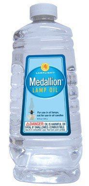 Lamplight Medallion Lamp Oil Unscented 64 Oz Clear by Lamplight Farms