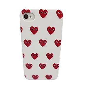 QJM Beautiful Eyes of Love Pattern PC Back Case for iPhone 4/4S