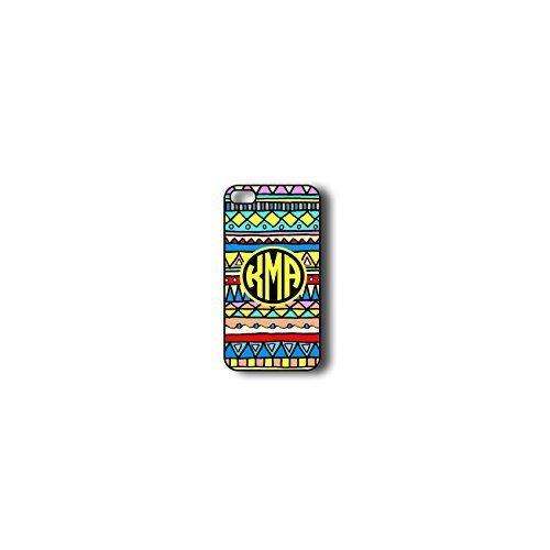 Krezy Case Monogram iPhone 4s Case, Colorful aztec Pattern Monogram iPhone 4s Case, Monogram iPhone 4s Case, iPhone...