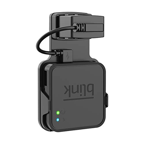 SPORTLINK Outlet Wall Mount for Blink Sync Module - Simple Mounting Hanger Bracket Holder with Short Cables for Blink XT Outdoor and Indoor Home Security Camera WiFi Hub (Black)