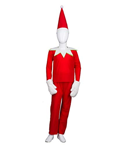 Child Elf on The Shelf Costume, Red Kids (S) HC-416