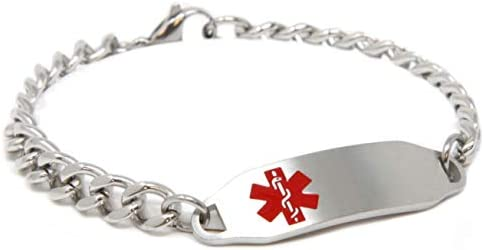 Steel Hearts Pre-Engraved /& Customizable Asthma Toggle Medical Bracelet My Identity Doctor Black