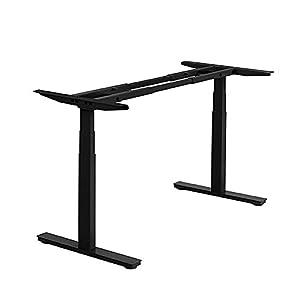 Autonomous SmartDesk - Height-Adjustable Standing Desk - Dual Motor - Black Frame