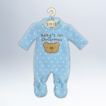 Hallmark 2012 Keepsake Ornaments QXG4614 Baby Boys First Christmas Onesie
