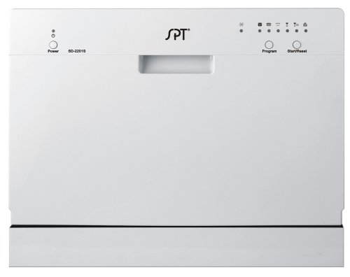 SPT Countertop Dishwasher, Sil