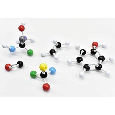 ZeeDix 125 Pcs Organic Chemistry Molecular Model Kit - Molecules Building Set for School Teacher and Student,Molecular Model Set for Inorganic & Organic Chemistry - 48 Atoms & 76 Links & 1 Opener: Industrial & Scientific