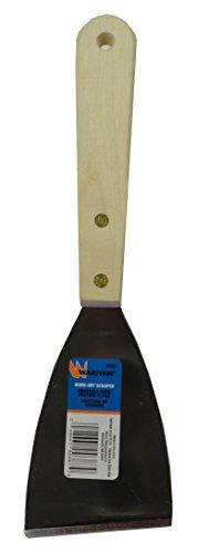 Burn Off Scraper (Warner 387 Bent Burn-Off Heavy-Duty Scraper with Long Handle and Carbon Steel Blade, 0.06-Inch)