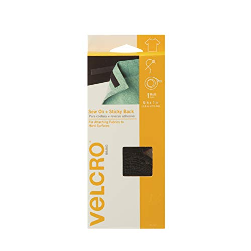 VELCRO Brand Home Décor Combination of Sew On Loop and Adhesive Backed Hook Tapes, 6' x 1
