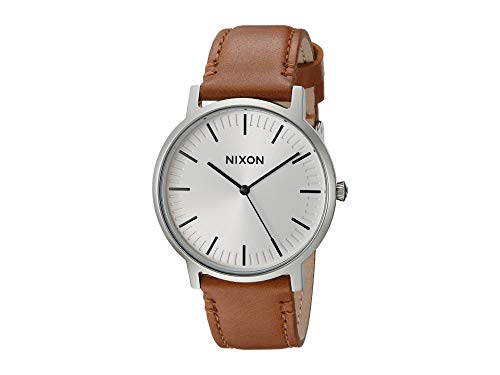 Nixon Porter A10572042-00. Leather/White Sunray Men's Watch (20-18mm Leather Band and 40mm White Watch Face) from NIXON