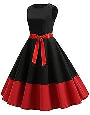 فستان كاجوال - بقصه واسعه - لون احمر واسود - نساء