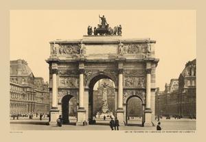 Carousal Triumphal Arch and Monument Gambetta Fine art Giclee canvas print (20 x 30)