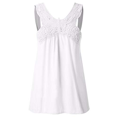 Witspace Summer Hot Outfit Tops Back Butterfly Lace Stitching Sleeveless Vest Camisole