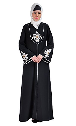 Dalia Embroidered Abaya Dress-Black-2XL for sale  Delivered anywhere in USA