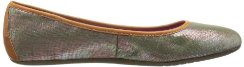 Dimmi Womens Resting Ballet Flat Metal Blush